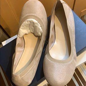 Cole Haan Jennie Gore II. Metallic Ballet Shoe.